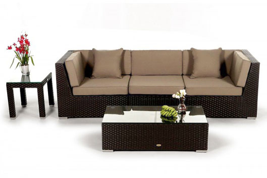 Rattan lounge braun  Rattan Lounge und Rattan Sofa - Rattanmöbel