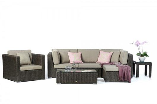 rattan lounge braun rattanm bel. Black Bedroom Furniture Sets. Home Design Ideas